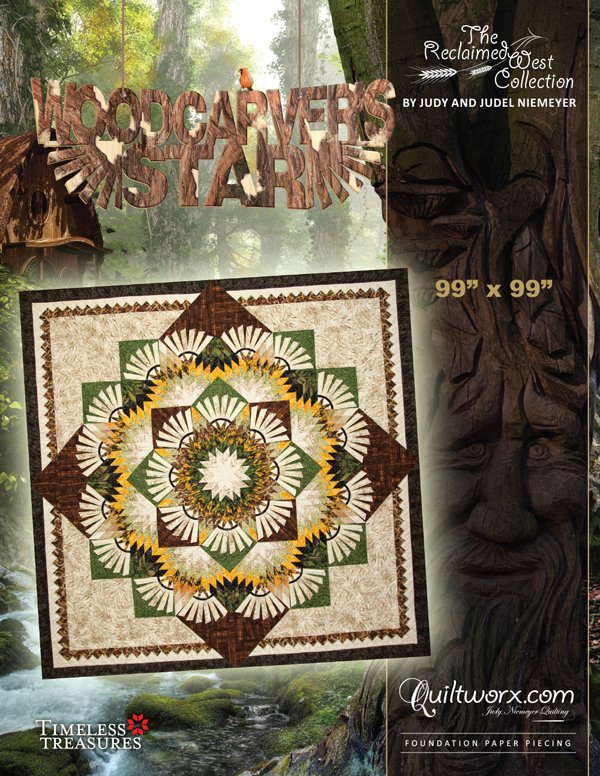 Woodcarvers Star Pattern by Quiltworx