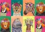 Junglemania Animals Wild Flowers Multi