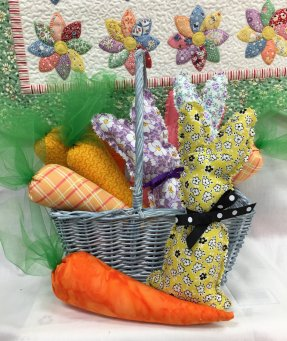 Fabric Carrots Pattern