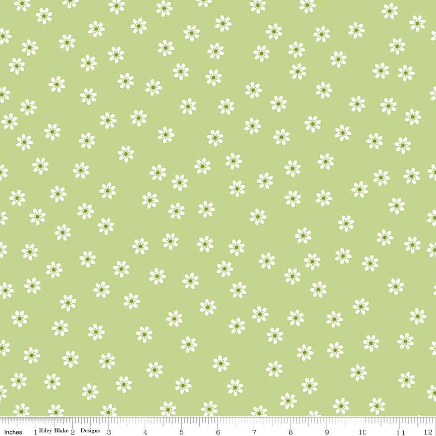 Sew 2  Daisy green