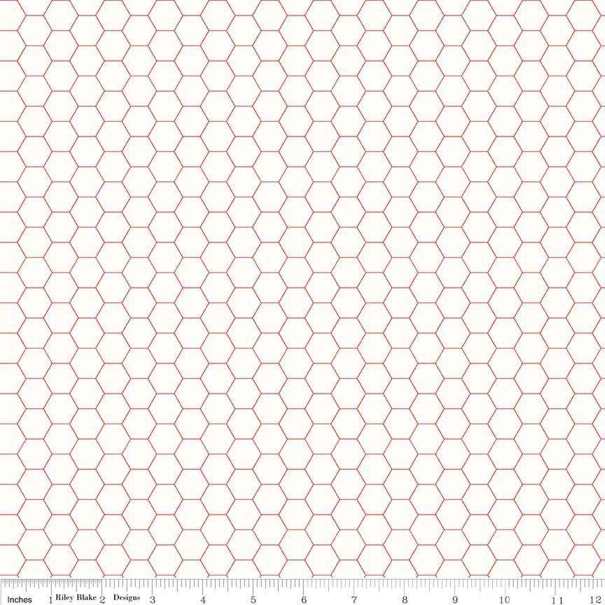C6387 Honey Comb Red