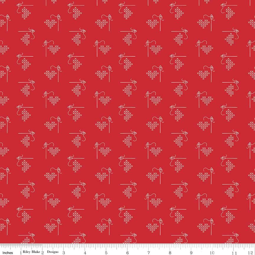 C6401 Heart Red