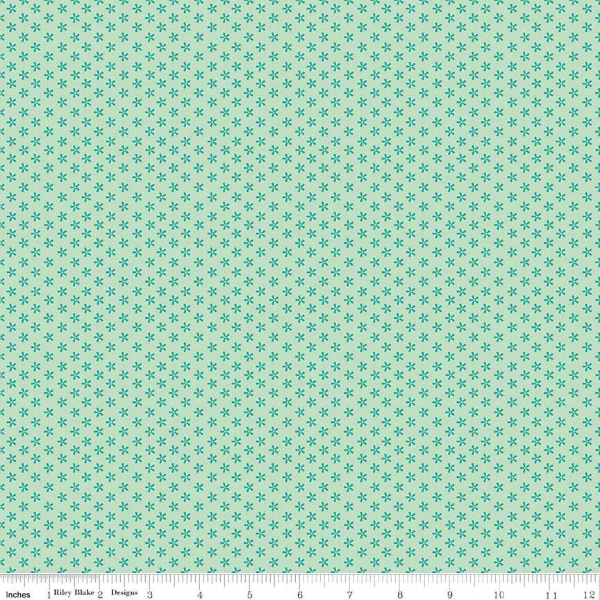 C6403 Tiny Daisy Teal