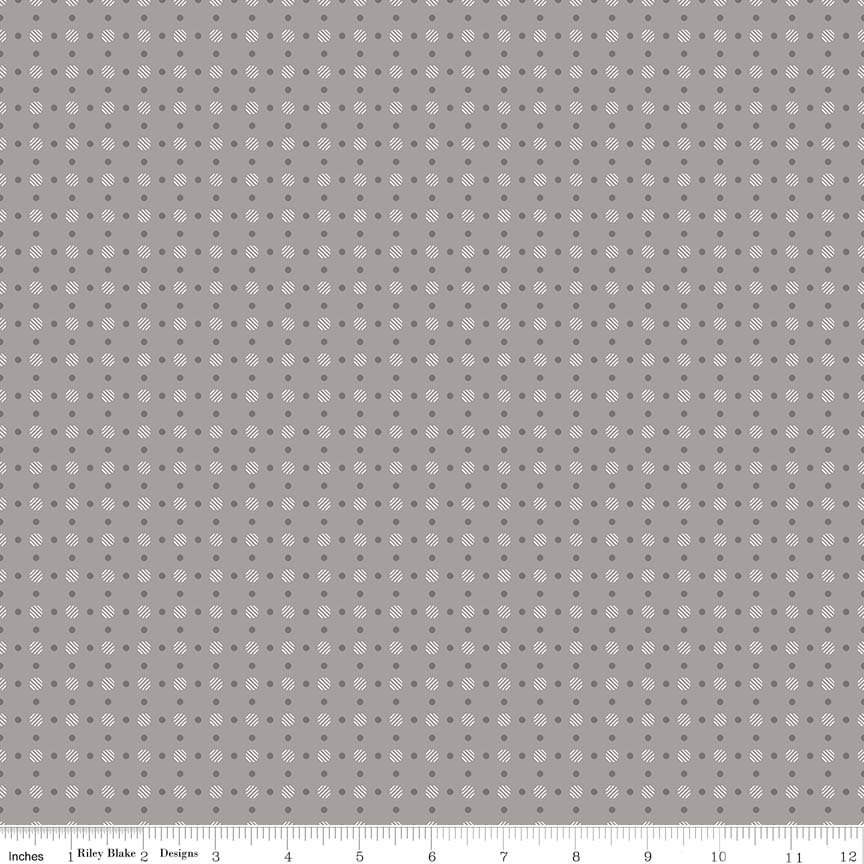C6405 Polka Dot Grey