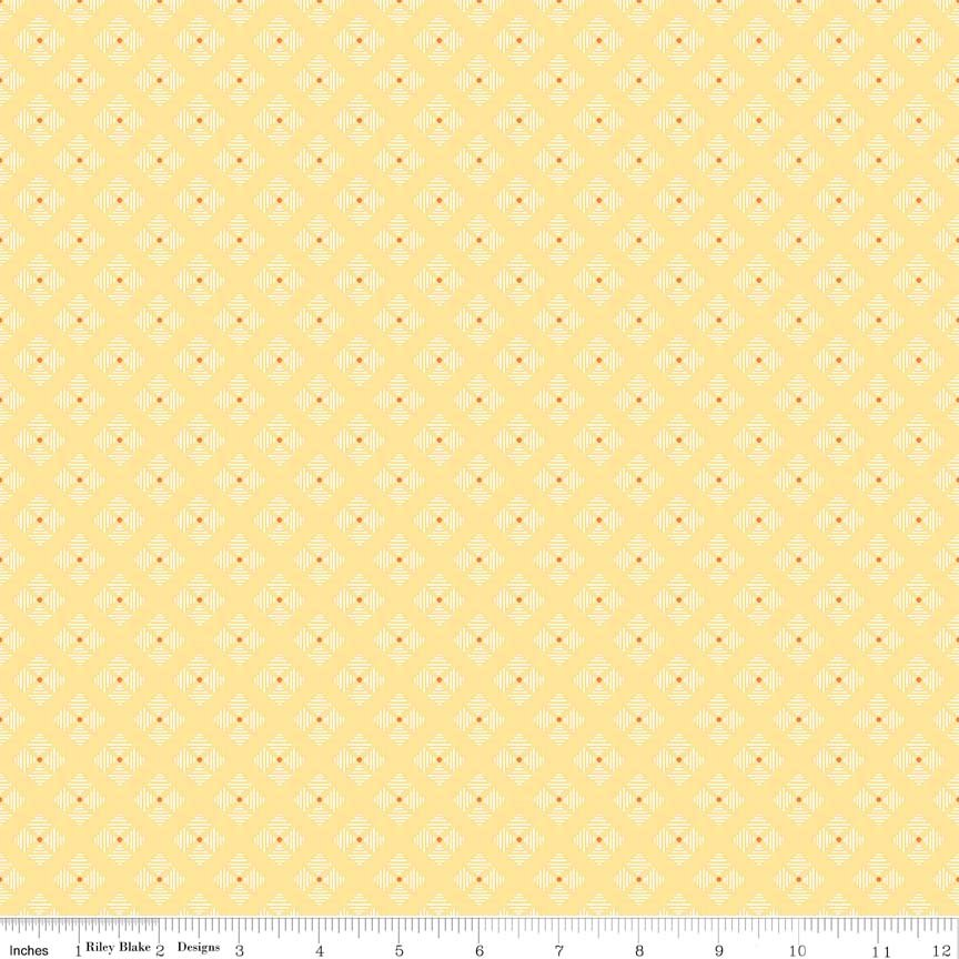 C6409 Stitched Flower Yellow