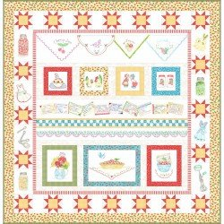 Summer Kitchen Quilt Assembly