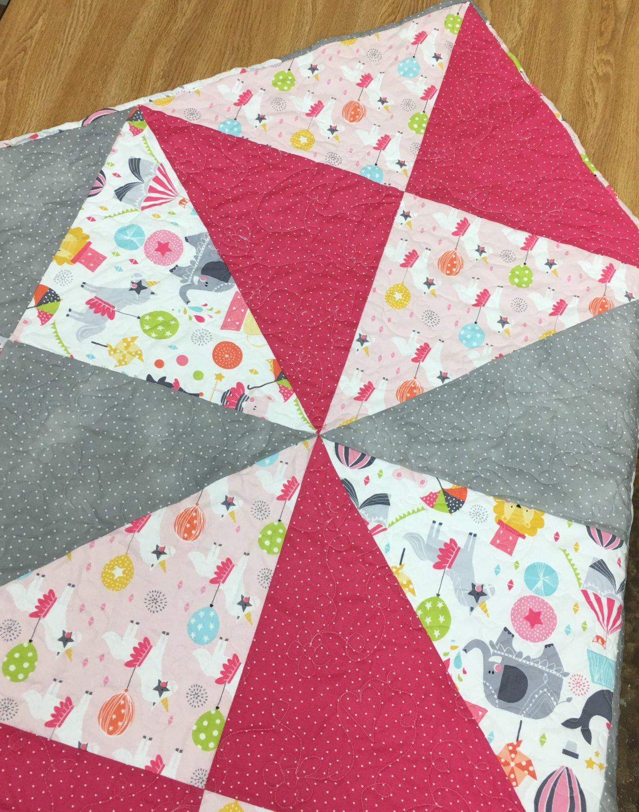 Calliope Baby Quilt Pink