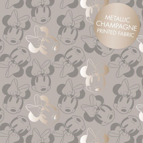 Minnie Mouse Met Outline grey