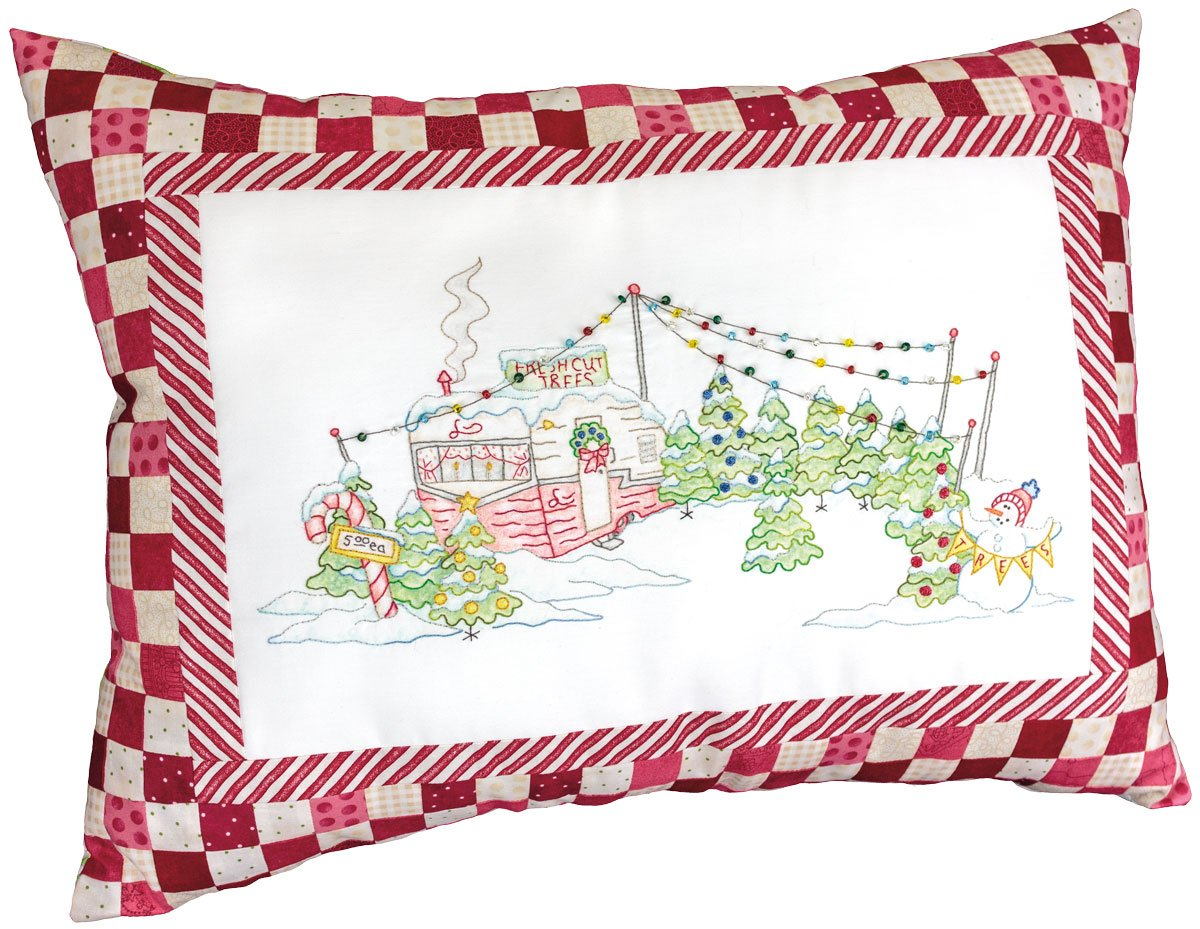 Candy Cane Tree Lot Pillow Kit