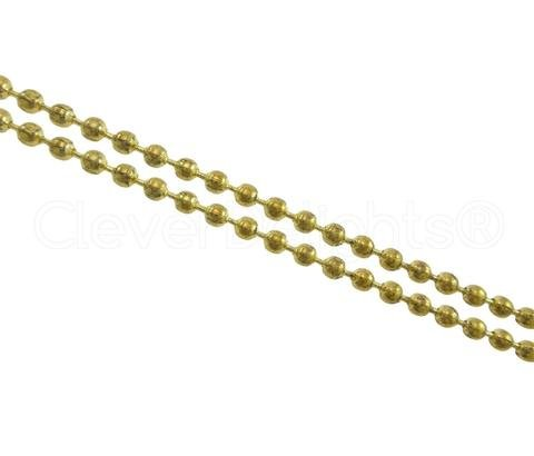Ball Chain w/ connector 36in. Gold Tone