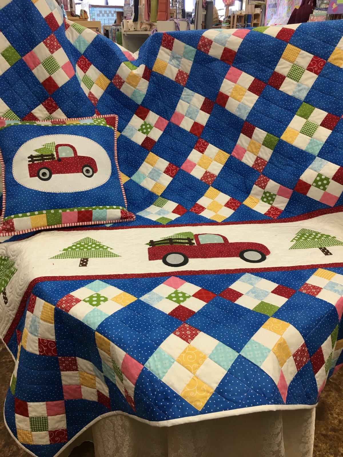 Christmas Memories Truck Quilt Kit