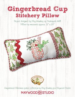 Gingerbread Cup Stitchery Pillow kit