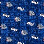 Gonzaga Distressed Logo Cotton