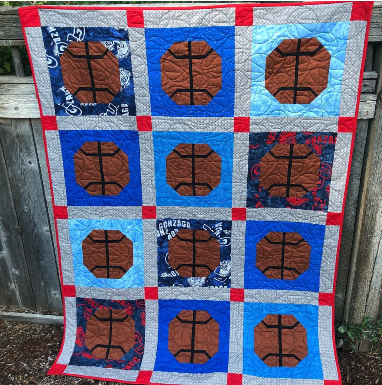 Gonzaga Slam Dunk Quilt KIt