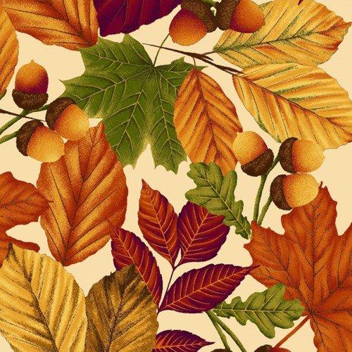Harvest Gathering 8770-44 Leaves Tan