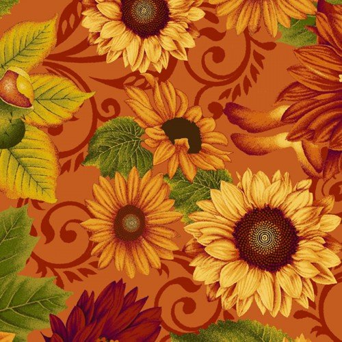 Harvest Gathering 8771-35 Flowers Orange