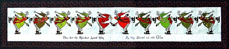 Glee Skating Santa & Reindeer pattern
