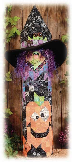 Witch & Pumpkins Post