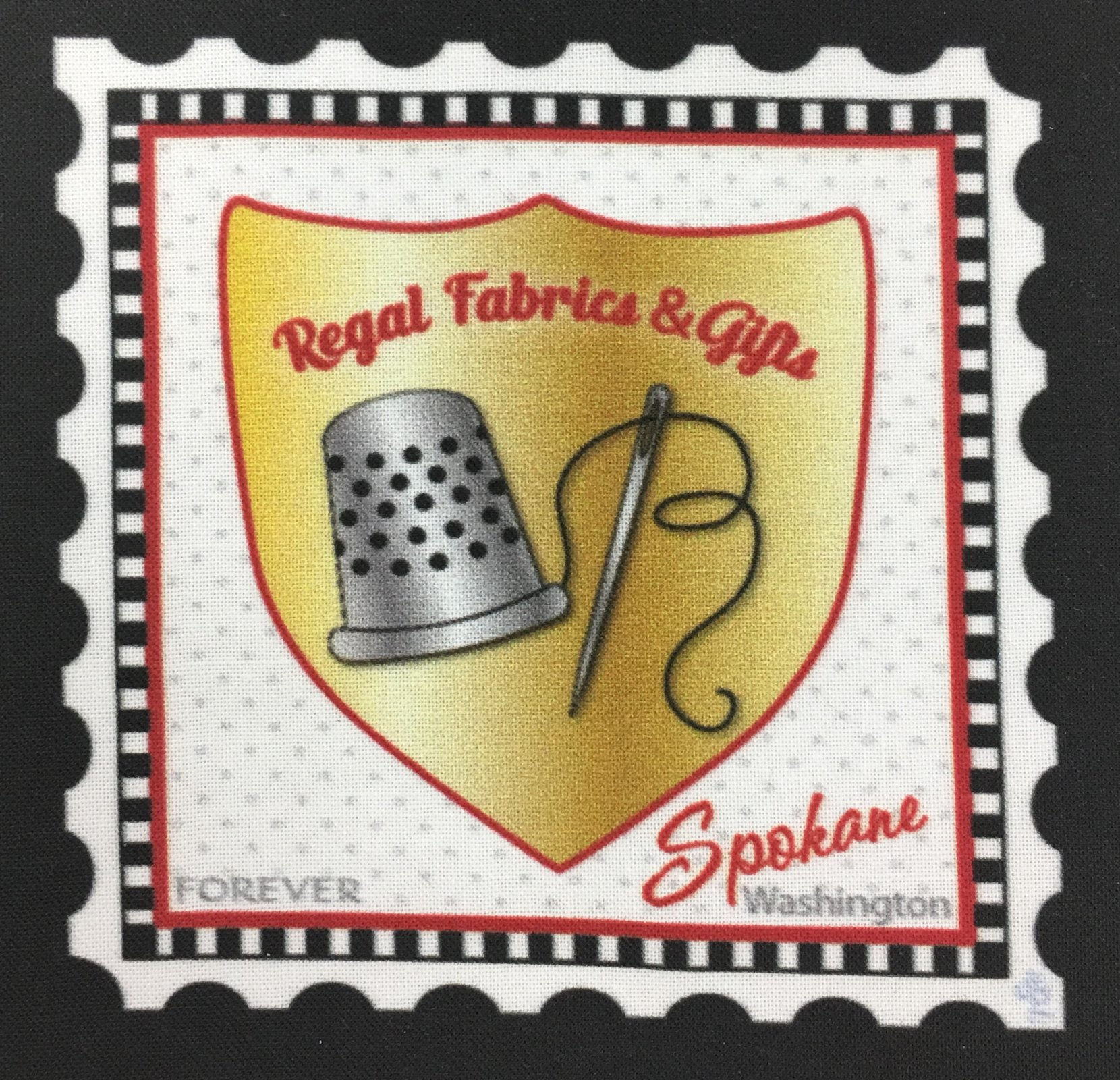 Regal Fabrics& Gifts Logo Stamp