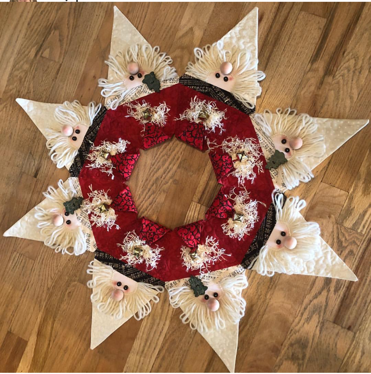 Jingle Bell Wreath Fabric Kit