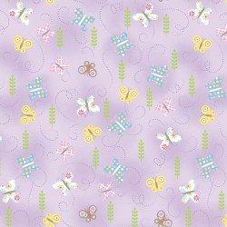 Hippity Hoppity Springtime Butterflies Lilac 09763-06