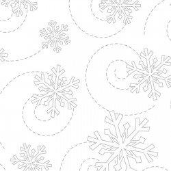 MAS8240-WW White Snow Flakes