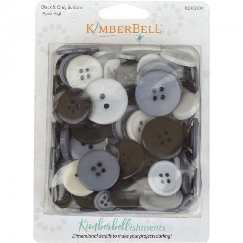 Kimberbell buttons black/grey
