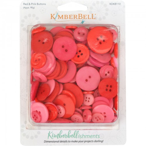 Kimberbell buttons red/pink