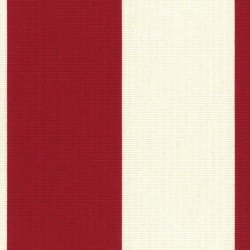 Cotton Style Canvas Stripe Red/W