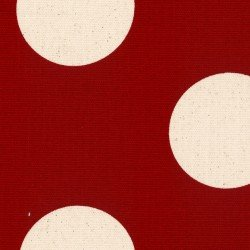 Cotton Style Canvas Dot red/white
