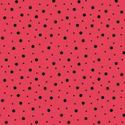 Lil' Sprout Too Random Dots Red Black