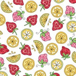 Lil' Sprout Too Strawberries n Lemons white