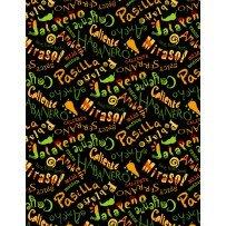 Caliente Peppers black words 31654-975