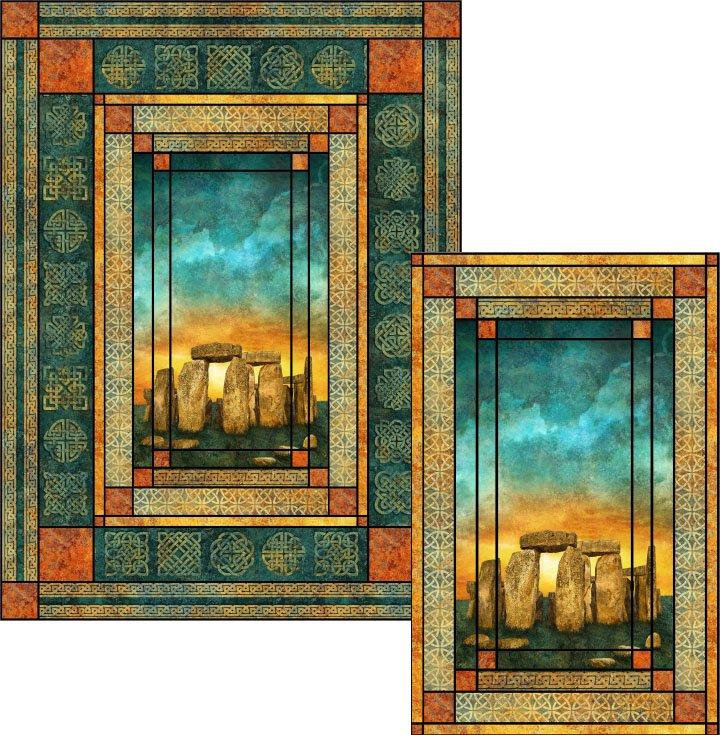 Stained Glass Quilt and Wall Hanging
