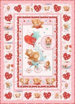 Puffy Teddy Quilt kit pink