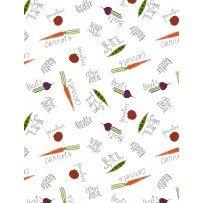 Freshly Picked Veggies A/O White