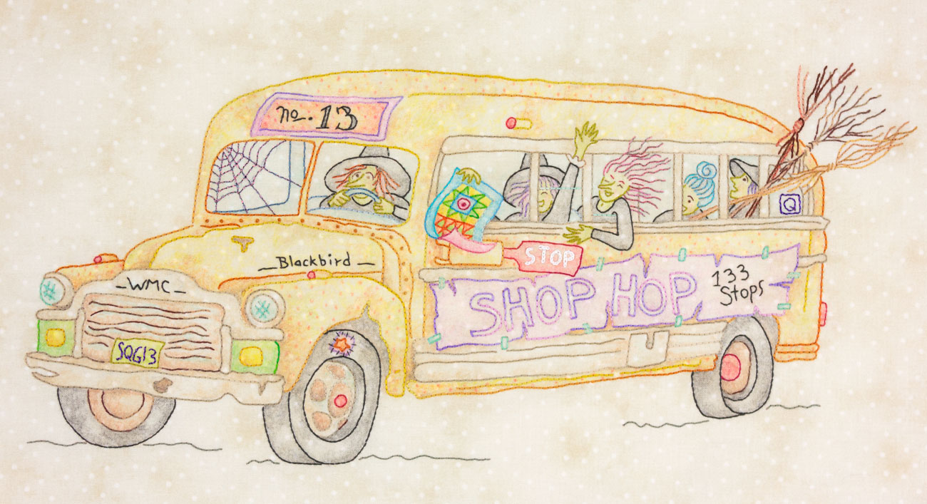 Stitchwitch Spellbinders #7 Blackbird Shop Hop Bus