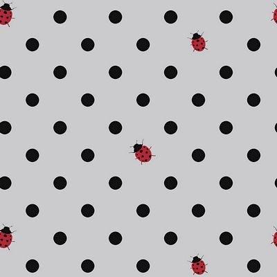 Jersey Knit Dot Lady Bug Grey
