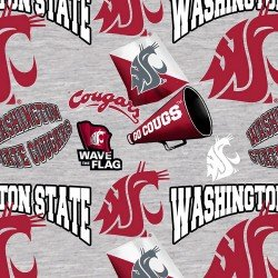 NCAA Washington State All Over Grey