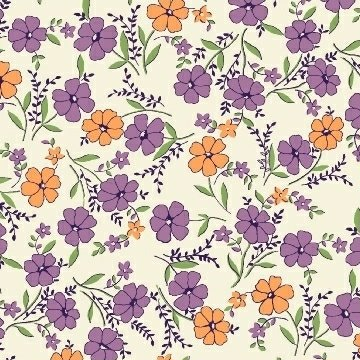 Aunt Grace Purple/Gold Floral