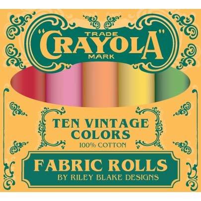 Crayola Fabric Rolls Confetti Cotton Vintage Fat Quarter Box