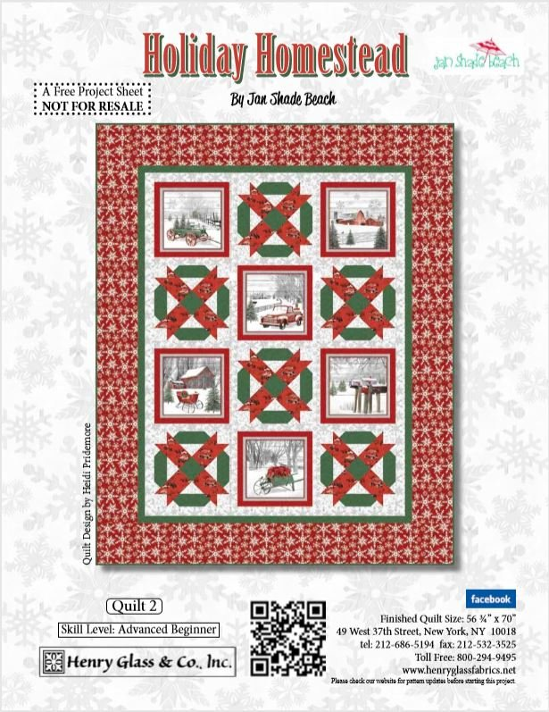 Holiday Homestead Pattern - Digital Download