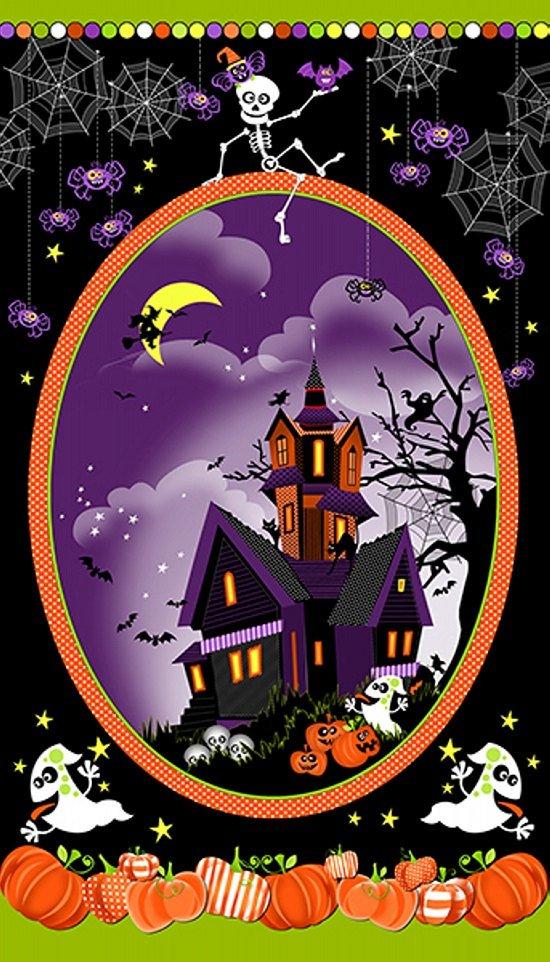 Frightful & Delightful Halloween Panel Glow in the Dark