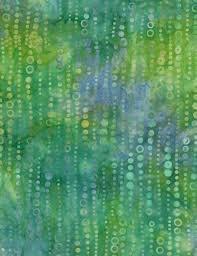 Bubble Batik - Blue/Lime Green
