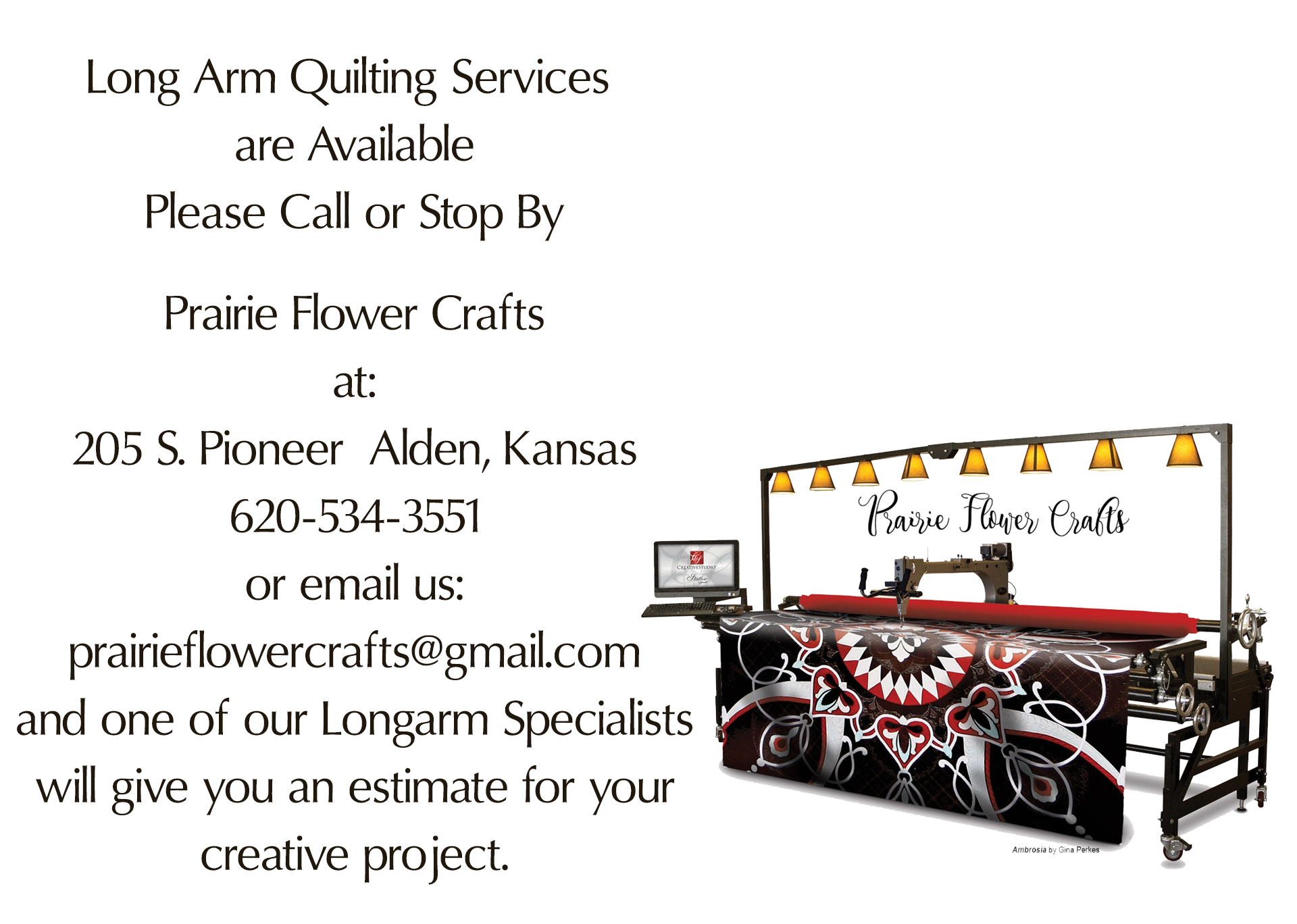 Long Arm Quilting Services Available