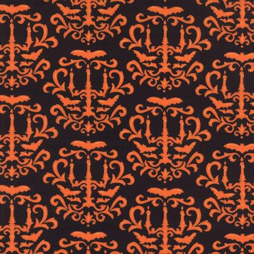 Moonlight Manor Midnight Black Orange Candelabra