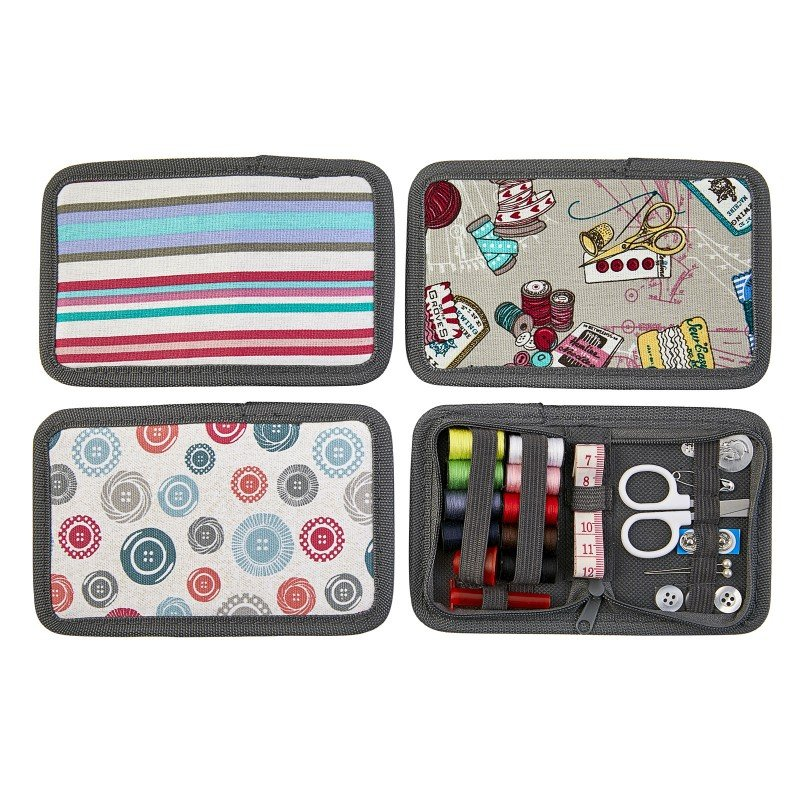 Fabric Sewing 24 pc Kit with zippered pouch