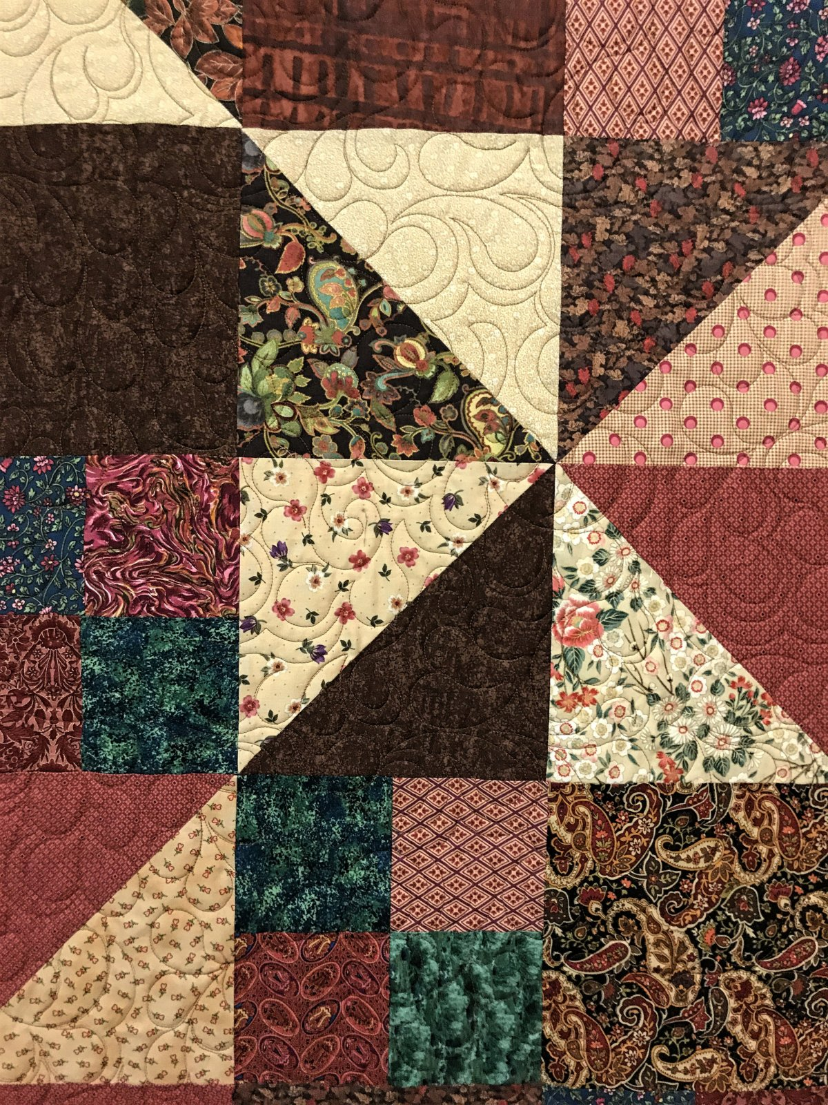 Bed Quilt, close up