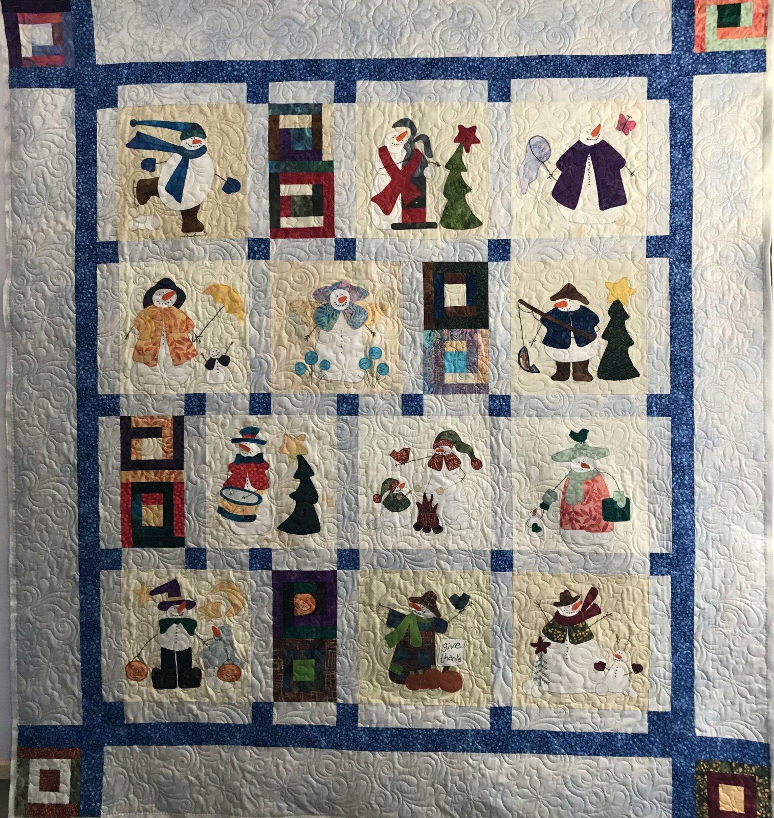 Calendar of Snowmen
