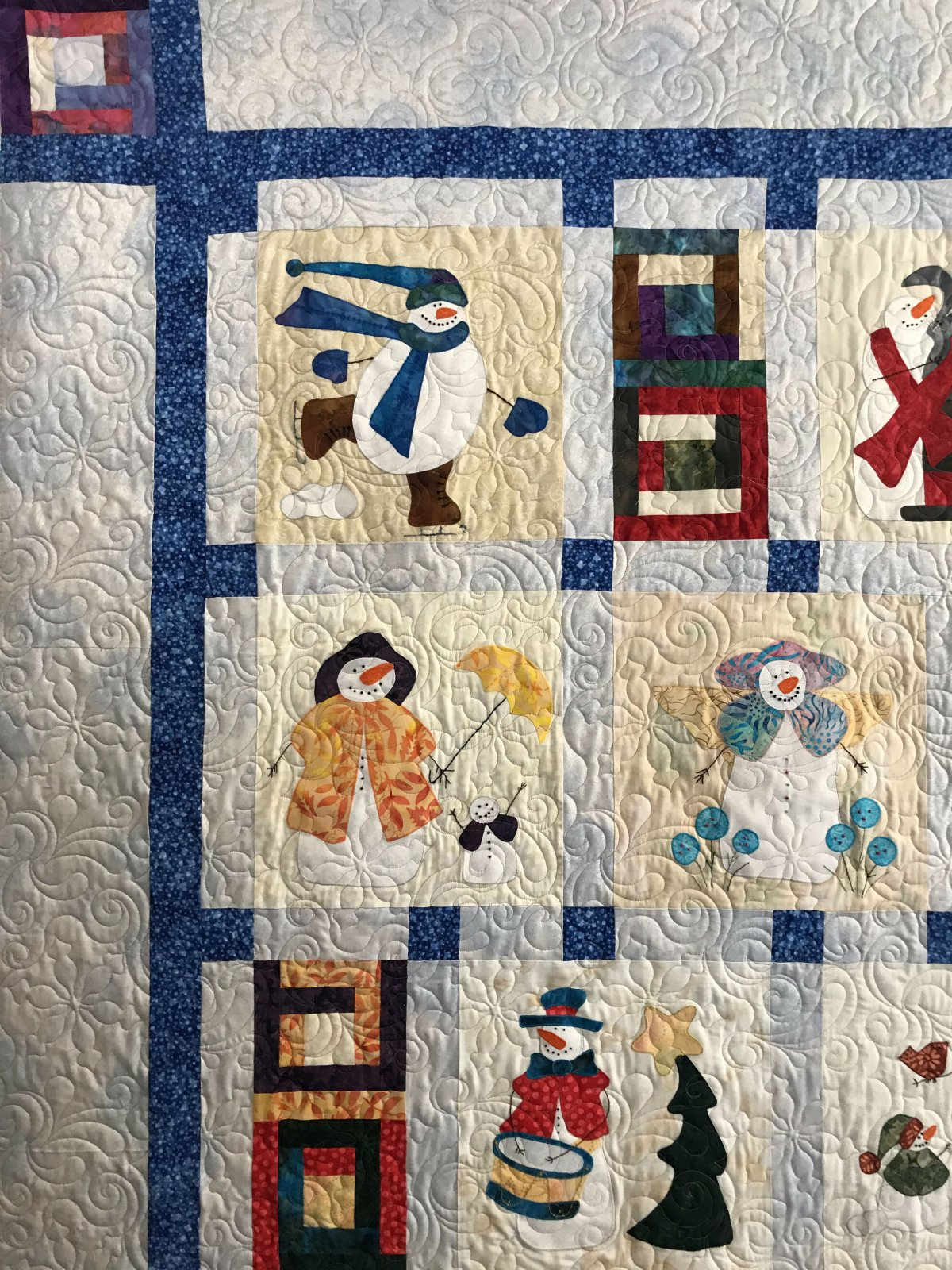 Calendar of Snowmen close up